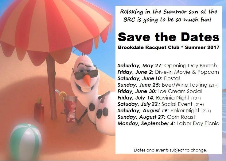 Pool Save the Dates 2017